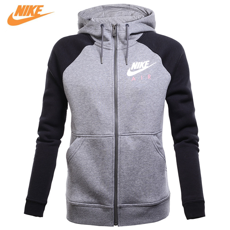 Nike Original Women's Spring Knitted Sportswear Jacket 831835-091 adidas original new arrival official neo women s knitted pants breathable elatstic waist sportswear bs4904
