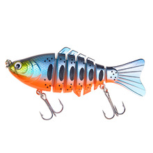 Купить с кэшбэком Hot good fishing lures minnow swimbait Multi jointed bait 100mm 15.5g Sinking Wobblers Hard Bait Fishing Tackle 1pcs