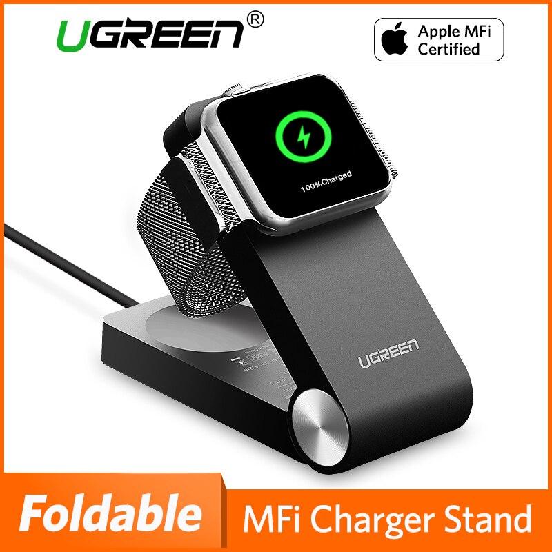 Ugreen Carregador Sem Fio para Apple Carregador Relógio Dobrável Carregador MFi Certified 1.2 m Cable Para Apple Série Relógio 4/ 3/2/1 carregador