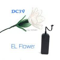 EL Cold Light Creative Custom Color Gardenia Flower Fashion Halloween Decor Led Strip Neon Hight Grade