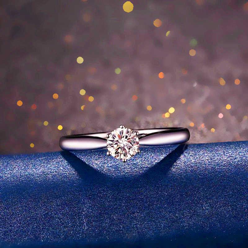 LOREDANA disegni la unico maestro di cristallo corona anello di fidanzamento dei monili S925 logo per professionale delle donne