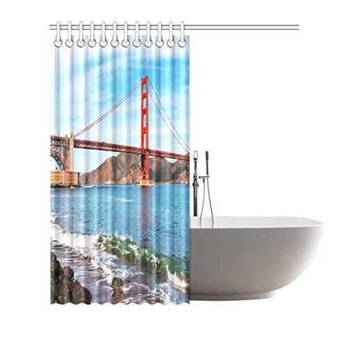 Famous Golden Gate Bridge in San Francisco, Usa Art Decor Shower ...