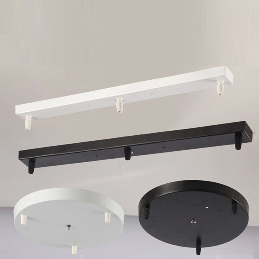 Us 33 74 30 Off 30cm Round 70cm Rectangle Black Or White Metal Painted Ceiling Plate For Diy Pendant Lighting Accessories In Lights From