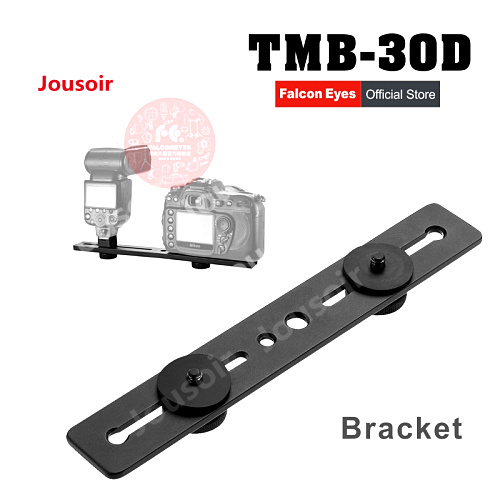Falcon Eyes TMB 30D Camera Flash Bracket Light Stand Mount Holder with two Hot Shoe for flash Photo Studio Accessories CD50