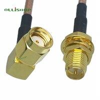 Угловой плетеный кабель RF RP SMA женский переключатель RP SMA штыревой кабель с прямым углом RP SMA разъем для RP SMA штекер RG316 радиочастотный коаксиа...