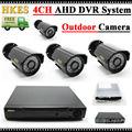 1080N HDMI DVR 1200TVL 720 P HD Ao Ar Livre Sistema de Câmera de Segurança Em Casa CCTV 4CH Kit de Vigilância De Vídeo DVR AHD Câmara conjunto