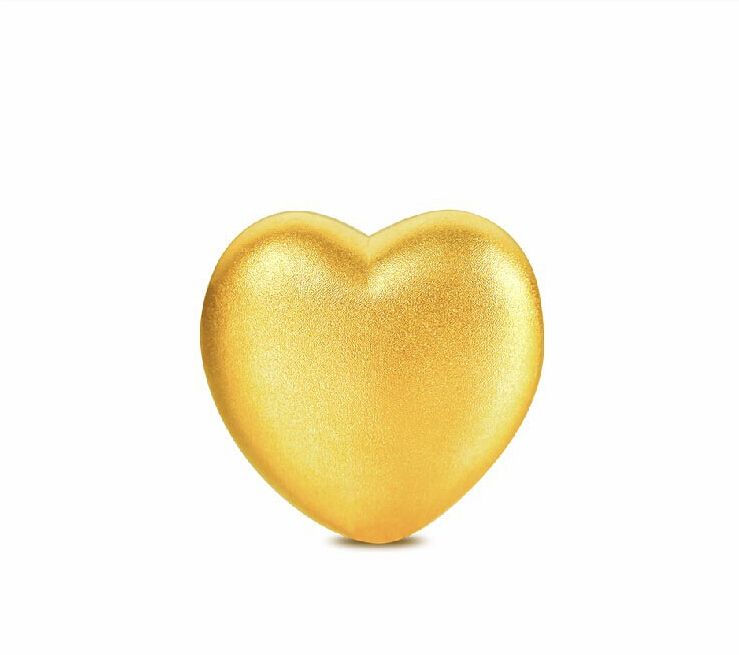 2015 Summer Solid 999 24K Yellow gold Heart Pendant 1.17g2015 Summer Solid 999 24K Yellow gold Heart Pendant 1.17g