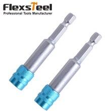 цена на Blue 1/4inch Hex Shank Quick Release Electric Drill Magnetic Screwdriver Bit Holder 3inch/75mm