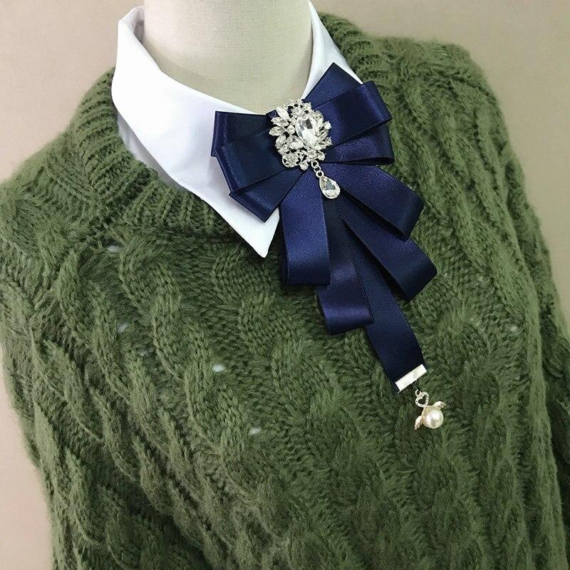 Handgemachte Britischen Frauen Weibliche Partei Hochzeitsanzug Neck Shirt Bogen Krawatten Krawatte Männer Bräutigam Strass Kristall Clip Pin Band Bowtie