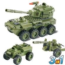 Woma J5821 образования DIY блоки игрушки строительный блок устанавливает 3 в 1 бронеавтомобиль 203 шт.