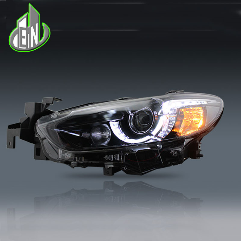 high quality Car Styling For Mazda Atenza Mazda6 Headlights 2014 - 2016 LED Headlight DRL Lens Double Beam HID Xenon Accessories high quality car styling case for mitsubishi lancer ex 2009 2011 headlights led headlight drl lens double beam hid xenon