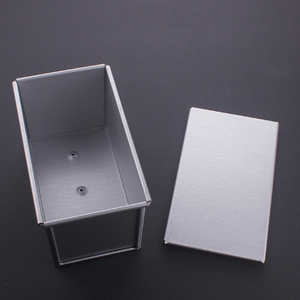 Image 3 - 250g/450g/750g/900/1000/1200g Aluminum Alloy Toast boxes Bread Loaf Pan cake mold baking tool with lid