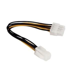 """Image 2 - Marsnaska Hot Koop 20 Cm 8 """"Inch 4 Pin Male Naar 8Pin Vrouwelijke Pc Cpu Voeding Verlengkabel cord Connector Adapter"""