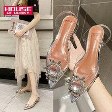 Transparent Crystal Beach Ladies Shoes Comfortable Rubber Sandals