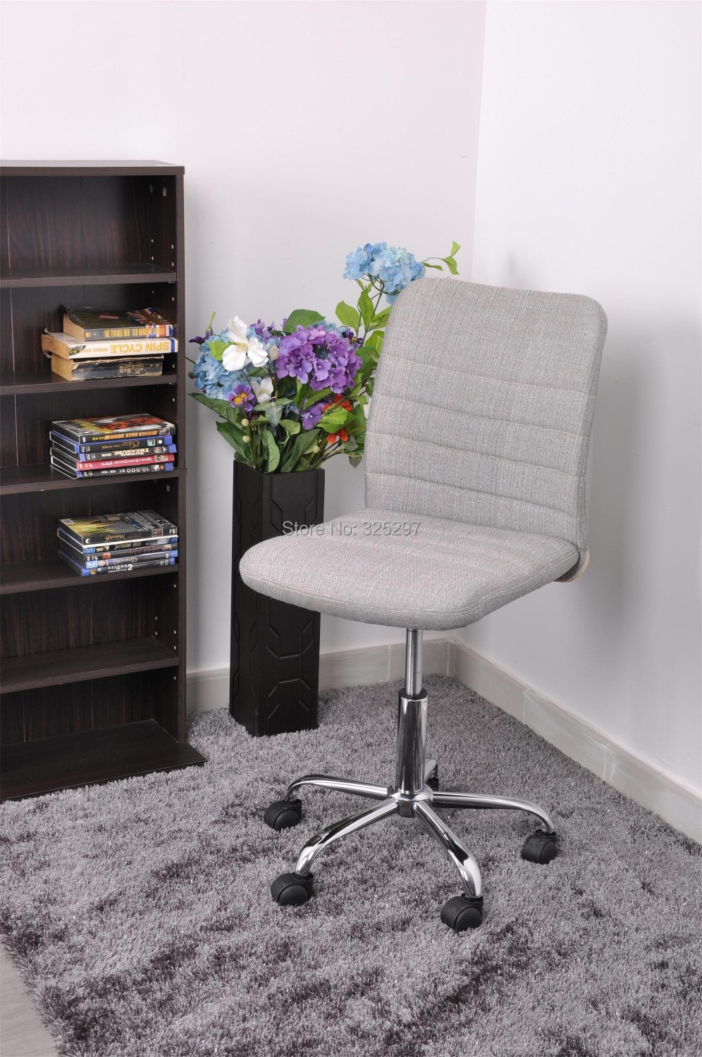 HERTHA SILVER Office/Computer Chair with fabric upholstery-in Office ...