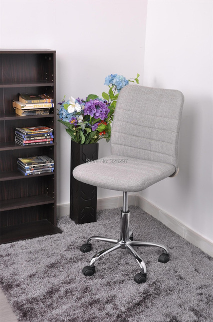 Hertha Silver Office Computer Chair With Fabric Upholstery