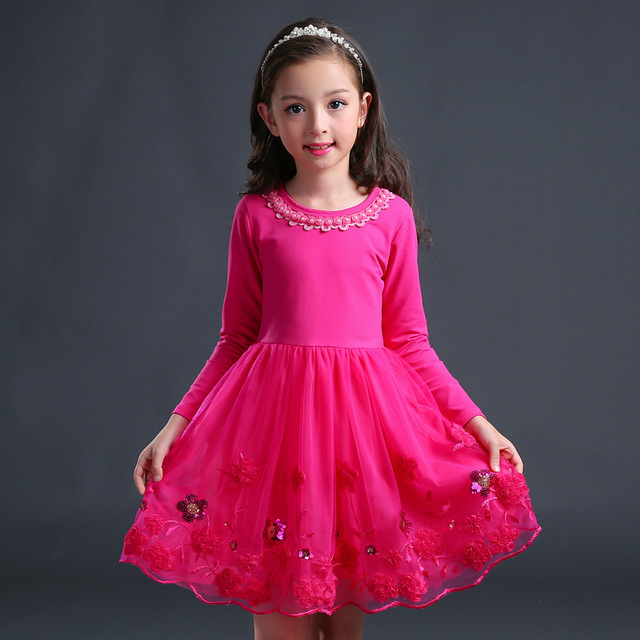 Kids Dresses For Girls School Wear 2018 Autumn Cute Teenage Girl Clothing Princess Dress Costume Girl