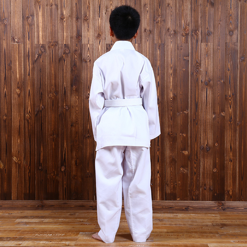 Купить с кэшбэком Men Women Clother Arate Uniform Training Suit Karate Performance Breathable Clothing Student Children Adult Tae Kwon Sports Ware