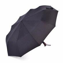 Grande Taille 10 Rayons Automatique Mâle Parapluie En Plein Air Coupe-Vent Pluie Hommes Nouvelle Année Femmes Pluie Parapluie Protection Parapluie Pliant