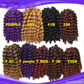 10inch Wand Curl Crochet hair extensions Jamaican bounce twist Crochet braiding hair afro kinky braids hair Marley Afro braids