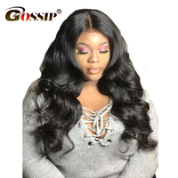 150 Density 360Lace Frontal Hair Wigs Pre Plucked with Baby Hair For Black Women Gossip Body Wave Indian Remy Hair Glueless Wigs