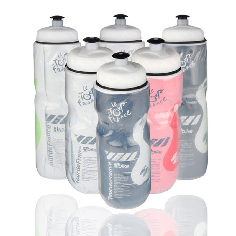 590ml/710ml Bicycle Water Bottle Double Insulated Kettle For Outdoor Indoor Sport Cycling Camping Climbing Bottles