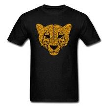 Leopard Print T-shirt Men Tshirt All Cotton Short Sleeve Tops Tees Labor Day T Shirt Normal Tee-Shirt 2018 New Camisa Wholesale цена и фото