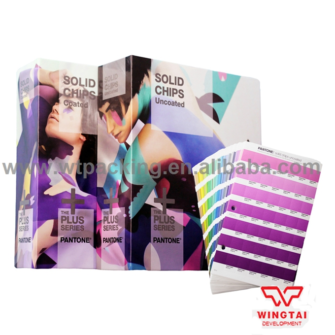 2 book Pantone Colour Chart GP1606N SOLID CHIPS Coated & Uncoated Color Chip Book pantone colour puzzles