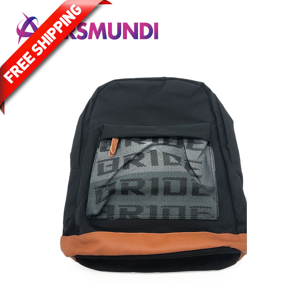 free JDM Style Racing Fabric Strap Style School Backpack Car Canvas Backpack Bride Bag Racing Souvenirs