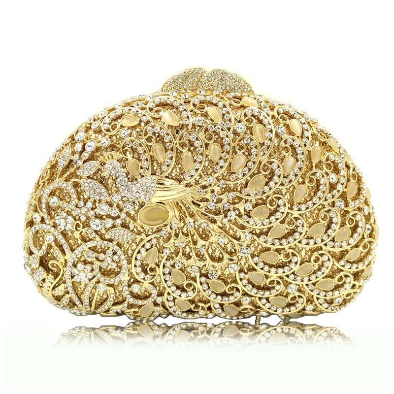 Luxury Gemstone Diamond Peacock Women's Evening Clutch Bag XIYUAN Rhinestones Ladies Clutches Evening Bag 2018 Female Clutch