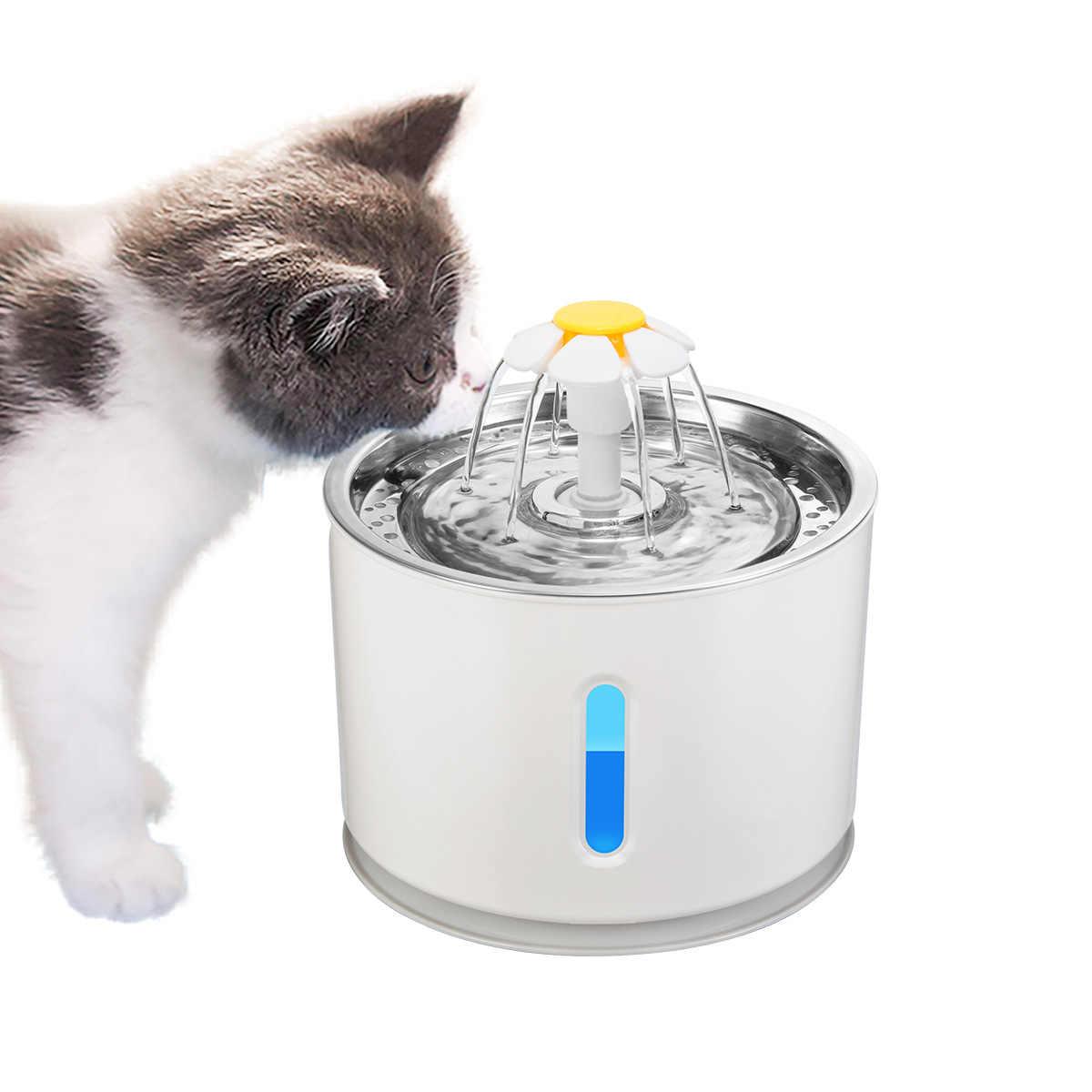 2.4Lสัตว์เลี้ยงอัตโนมัติน้ำพุแมวสุนัขน้ำเครื่องดื่มชามจานตัวกรองLedดื่มเครื่องกรองCore