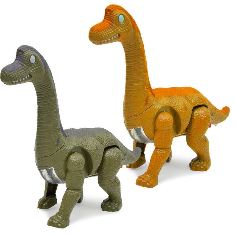 Electric Dinosaur Brachiosaurus Simulation Model Of The Sound Emitting Walking Animals Battery Operated Toys For Children