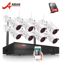 Plug And Play 8CH CCTV System Wireless NVR Kit P2P 720P HD IR WIFI IP Camera