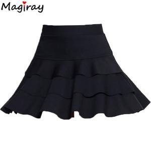 Image 5 - Magiray Plus Size Hoge Taille Mini Rok 3 Lagen Ruffle Rokken Womens Zomer 2020 Gevoerd Korte Saia A Lijn Vrouwelijke rok C445