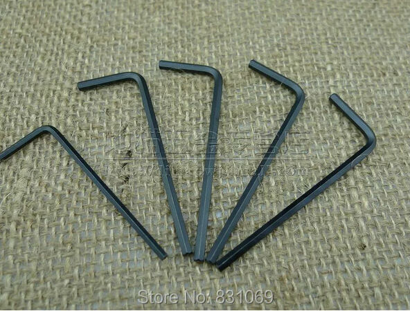 2-50pcs/Lot Carbon Steel M1.5/M2/M2.5/M3/M4/M5/M6/M8 Hex Key Allen Wrench Spanner Fixing Tools Brand New