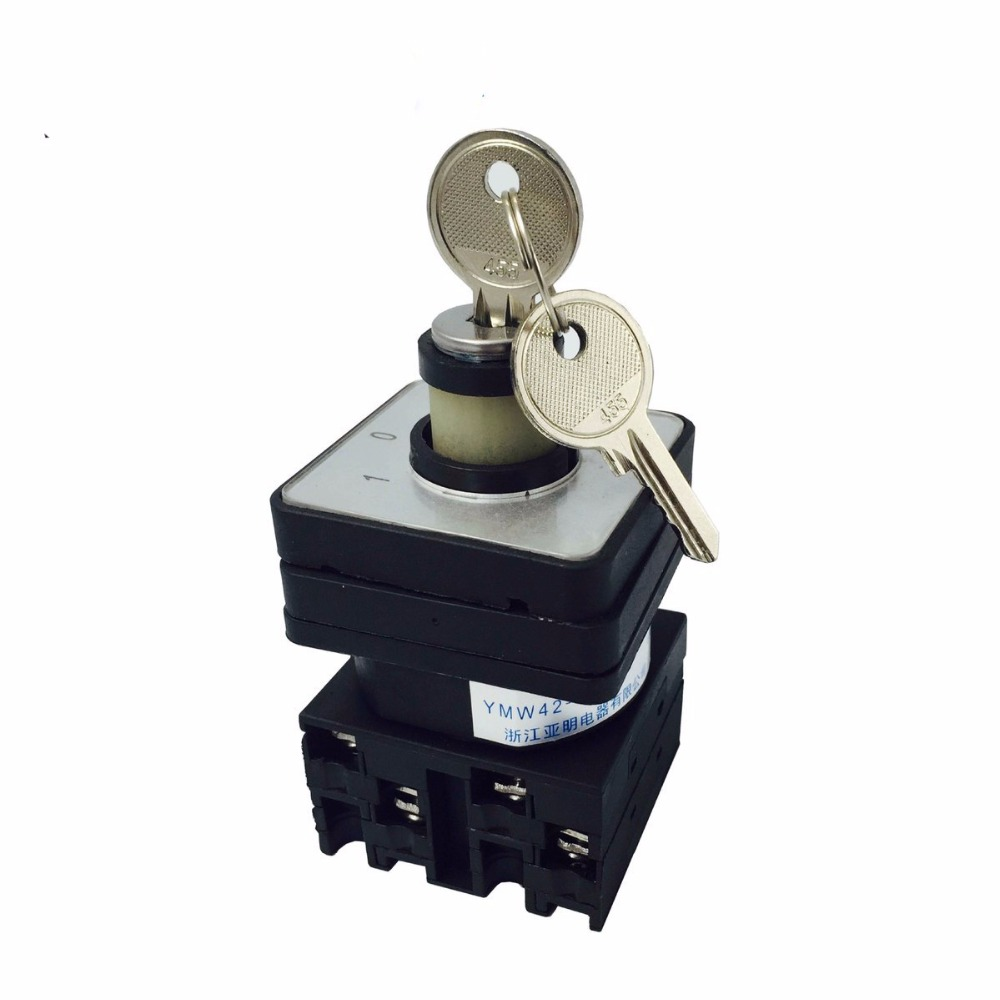 Supplies Change-over Switch Universal Knob Type Manual Operation YMW42-20/2S Bring Lock Bring Key 3 Archives Zhejiang 660v ui 10a ith 8 terminals rotary cam universal changeover combination switch