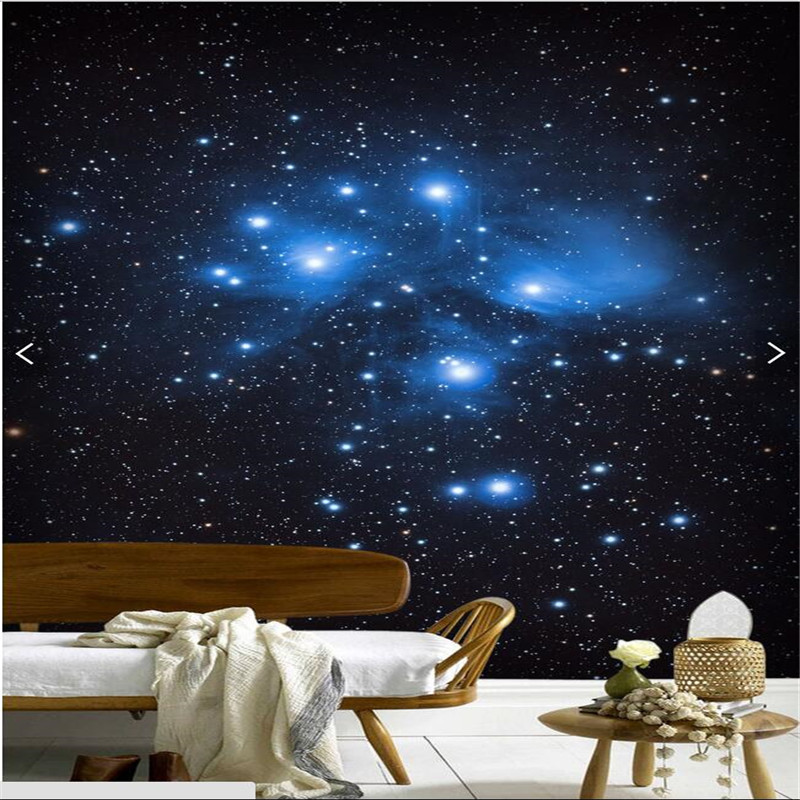3d Wallpaper Mural Decor Photo Background Night Sky Milky Way Restaurant  Hotel Ceiling Living Room Wall Painting Mural Panel In Wallpapers From Home  ... Part 84