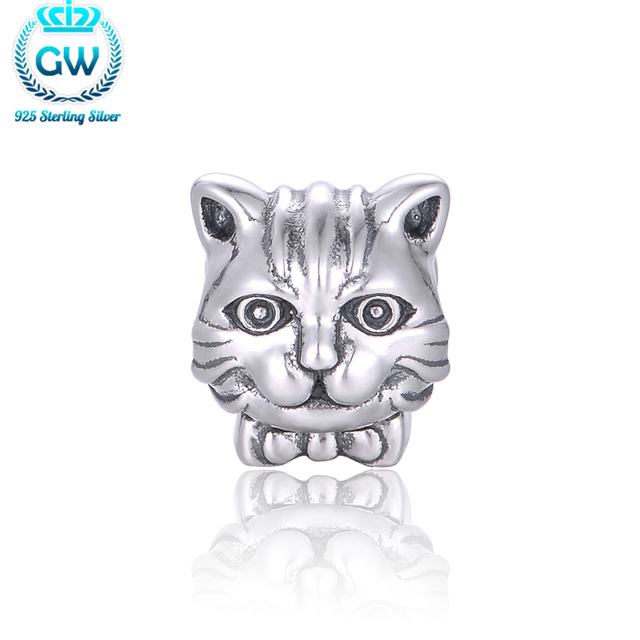 925 Sterling Silver Cat Charms For Brand Bracelets Gw Jewelry Beads Diy