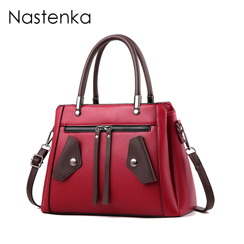 Nastenka Ladies Luxury Handbags Women Bags Designer High Quality Shoulder Bag Sac Femme Crossbody Bag Women Leather Tote Bags bolsas femininas 2016 designer handbags high quality casual canvas bag women handbags sac femme tote ladies shoulder hand bag