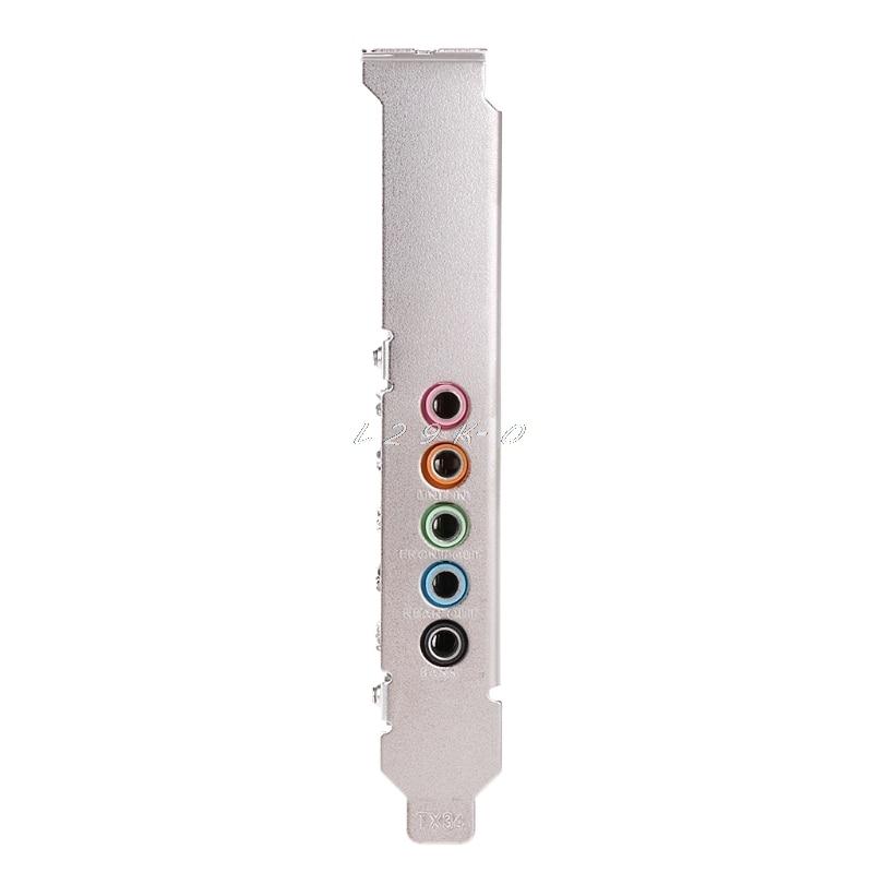 PCI-E Audio Digital Sound Card 5.1 Solid Capacitors CMI8738 Chipset Barrier