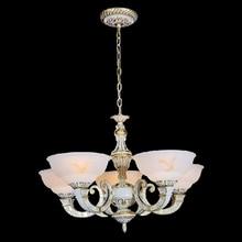 Nordic American минималистский деревенский кованого железа сплава двойного всасывания висит люстра лампа гостиная светильник спальни restaura