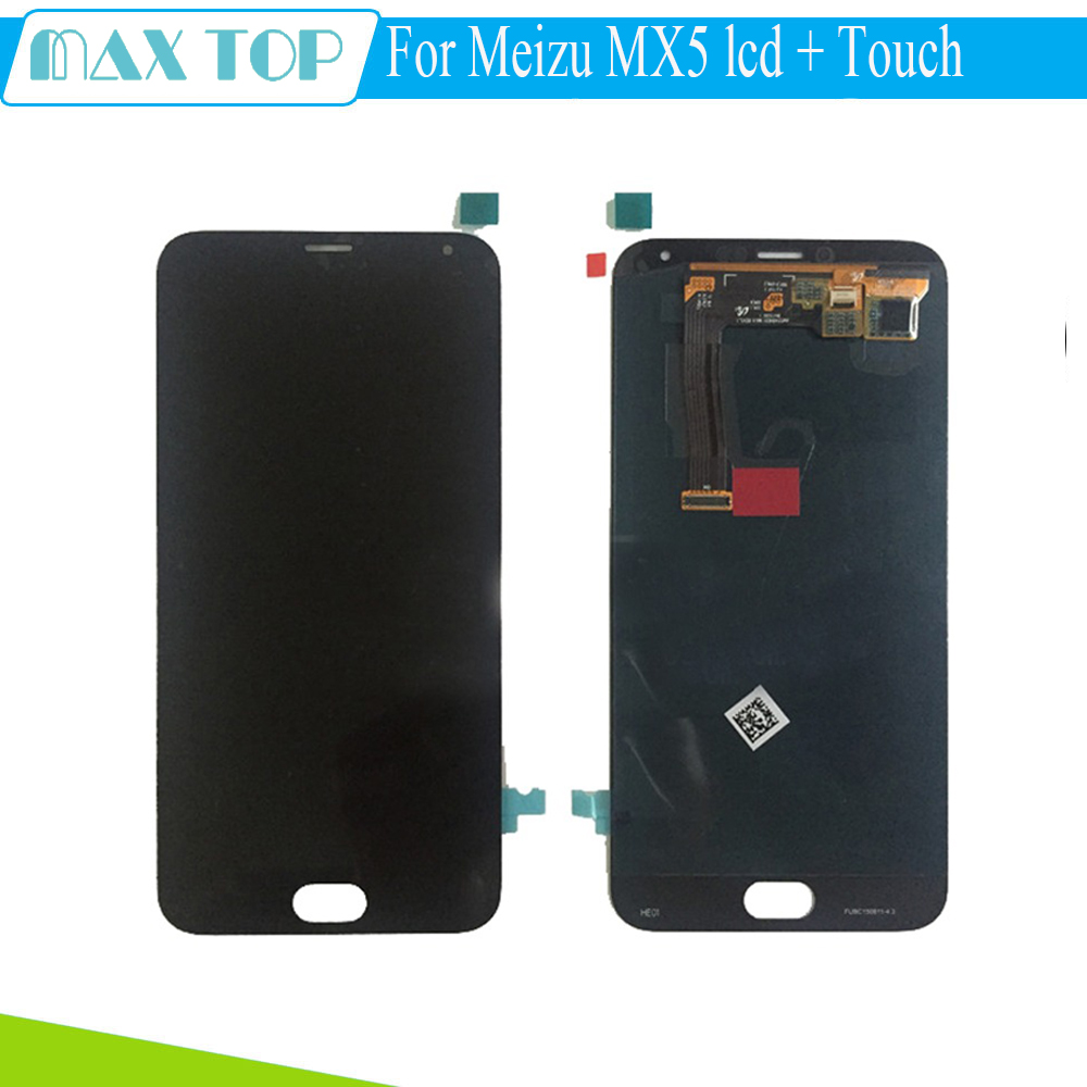 Meizu MX5 LCD Display+Touch Screen White  Original Digitizer Glass Panel For Meizu MX5 MTK6795 1920X1080 FHD 5.5'' Phone