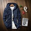 2016 men fall clothing men 's t jacket men' s leisure collar men jacket hooded long - sleeved pure color jacket coat