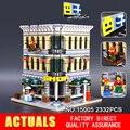Lepin 15005 2182 pcs cidade criador grand empório model building kits ação brinquedo tijolo compatível 10211