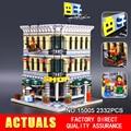 Lepin 15005 2182 unids grand city creator emporio kits de edificio modelo de acción juguete ladrillo compatible 10211