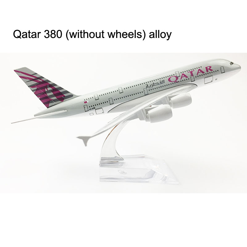 QATAR Airways Airlines Plane model 16CM Boeing 747 Airplane model 20CM A380 Aircraft model Alloy Metal Diecast Toy plane DROPSHI 36cm resin a380 qatar airlines airbus model qatar international aviation airways aircraft model a380 airplane plane model toy