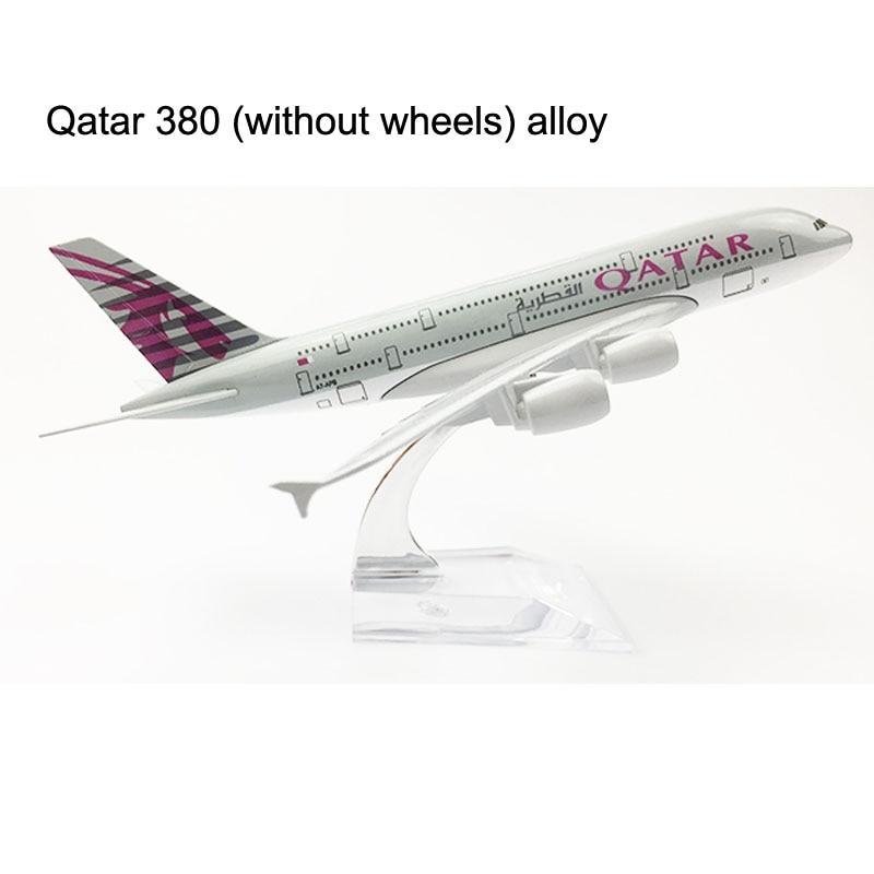 QATAR Airways Airlines Plane Model 16CM Boeing 747 Airplane Model 20CM A380 Aircraft Model Alloy Metal Diecast Toy Plane DROPSHI