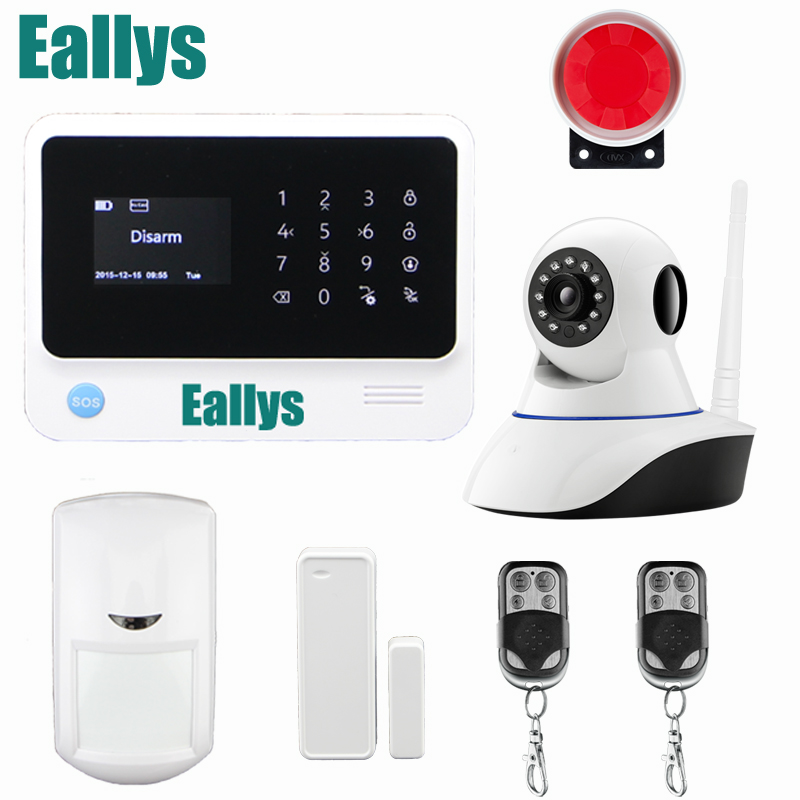 Original G90B WIFI GSM alarm system with GPRS,Touch keypad IOS Android APP controlled Home secure Alarm System with IP camera цена и фото