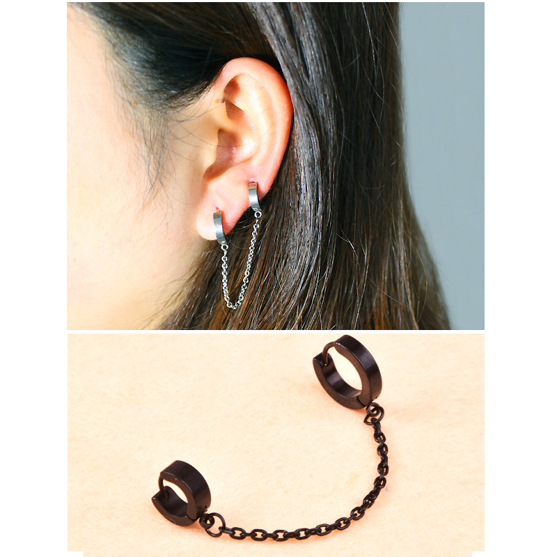 double stud earring ear lace jewelry for two ear holes us542