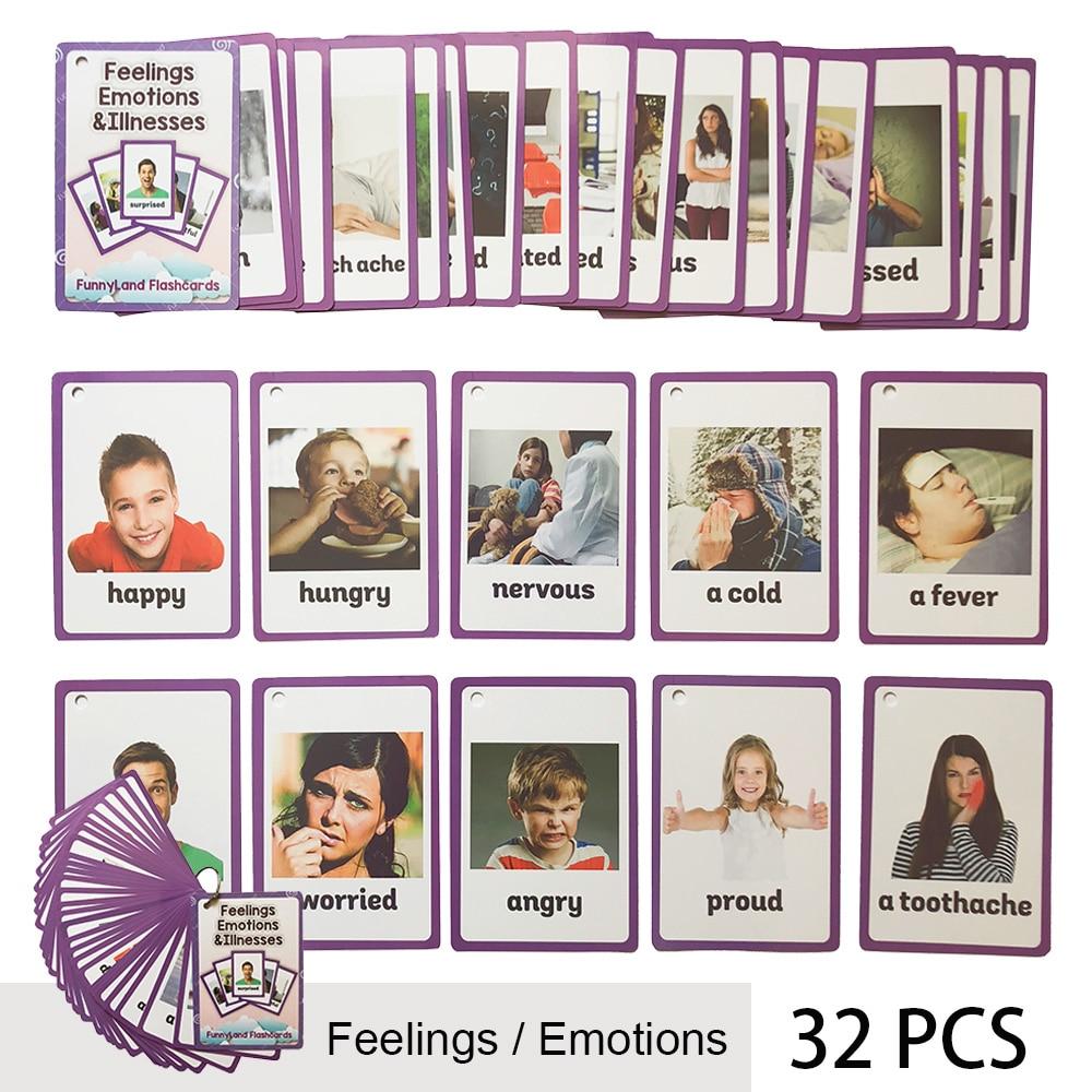 26 catégories 760 Cartes Enfants apprendre L'anglais carte de mots Anglais carte papier jouets éducatifs pour enfants pour L'apprentissage Précoce des enfants jouet - 4